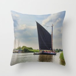 Albion on the River Thurne Throw Pillow