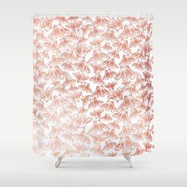 Rose Gold Octopus Print Shower Curtain