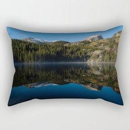 Hallett Peak Reflection - Rocky Mountain National Park Rectangular Pillow