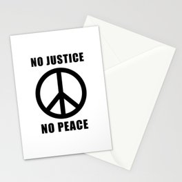 No Justice No peace Stationery Cards