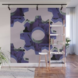 IMPROBABLE GREASE REEL blue Wall Mural