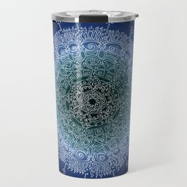 Appreciating on Black Background Travel Mug