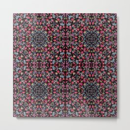 kaleidescope Pink Meadow Metal Print