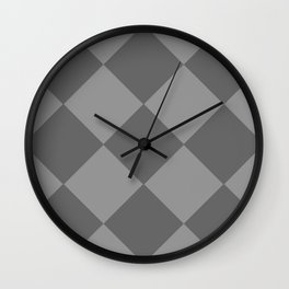 Grey Rhombus Wall Clock