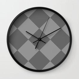 Grey Rhombus Wall Clock