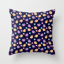 Freely Birds Flying - Fly Away Version 2 - Night Color Throw Pillow