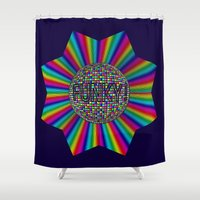 funky Shower Curtains featuring FUNKY! by A-Devine