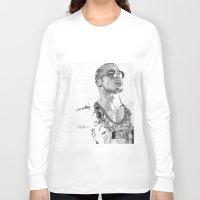 tyler durden Long Sleeve T-shirts featuring Tyler Durden by Rik Reimert