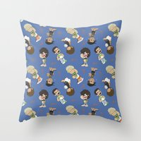 1d Throw Pillows featuring Sleepy 1D by Ashley R. Guillory