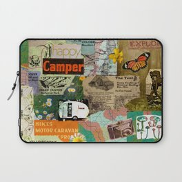 RETRO CAMPING COLLAGE Laptop Sleeve