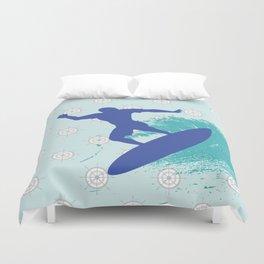 Surf, sea, surfing, marine, sea, summer, blue , nautical Duvet Cover