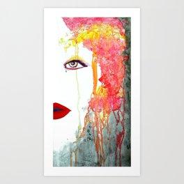 Angry Girl Art Print