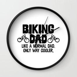Biking Dad Wall Clock