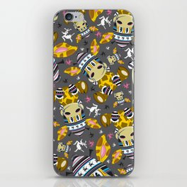 Cute Cartoon Bobble Hat Giraffe Pattern iPhone Skin
