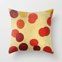 circles Throw Pillows featuring Circles by SensualPatterns