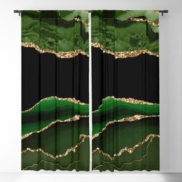 Emerald Marble Glamour Landscapes Blackout Curtain