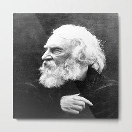 Julia Margaret Cameron - Portrait of Longfellow Metal Print