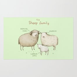 The Sheep Family Rug