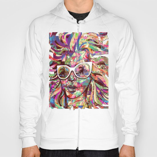 Sun Glasses In a Summer Sun Hoody
