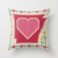 Home Sweet Arkansas Throw Pillow