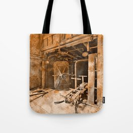 Vintage Acrylic Silk Mill Tote Bag