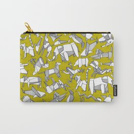 origami animal ditsy chartreuse Carry-All Pouch