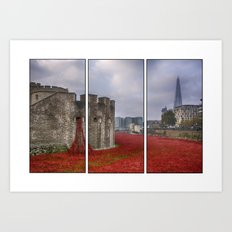 Blood Swept Lands Tryptych Art Print