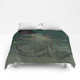 Octopus with a top hat Comforters