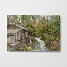Cedar Creek Grist Mill Landscape Metal Print