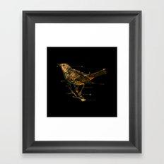 Migration - Vintage Map Wanderlust Bird Framed Art Print