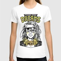 cyberpunk T-shirts featuring TEENAGE SPACE DREAMS by Lokhaan