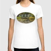 monet T-shirts featuring Monet Bridge Reflected by Wealie