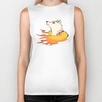 okami Biker Tanks featuring Okami by poripori