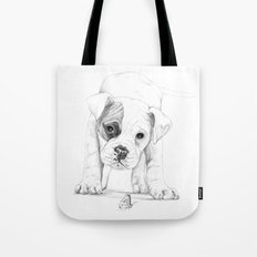 Patch, A Boxer Puppy :: Shelter Dog Project Tote Bag