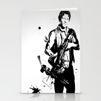 daryl dixon Stationery Cards featuring Daryl Dixon by Black And White Store