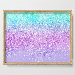 Unicorn Girls Glitter #9 #shiny #decor #art #society6 Serving Tray