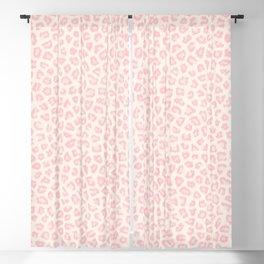 Modern ivory blush pink girly cheetah animal print pattern Blackout Curtain