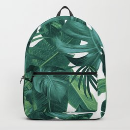 Tropical Summer Jungle Leaves Dream #2 #tropical #decor #art #society6 Backpack