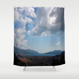 Sunshine, Clouds and Shadows Over The Bay Of Marmaris Shower Curtain