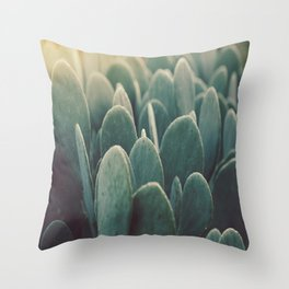 Green + Gold Throw Pillow