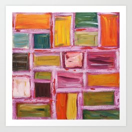 Abstract Painting 76 Art Print
