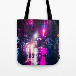 Purple Cyberpunk Tote Bag