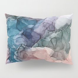 Heavenly Pastels 2: Original Abstract Ink Painting Pillow Sham