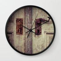 door Wall Clocks featuring door by Deviens