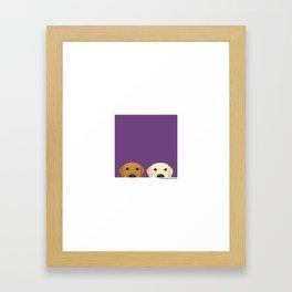 Tan Lab & Yellow Lab Framed Art Print