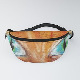 Portrait red cat with Green eyes Fanny Pack