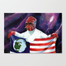 Zoidberg (Now thats what I call a Grand Ole Flag) Canvas Print