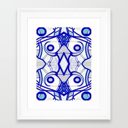 Blue morning - abstract decorative pattern Framed Art Print