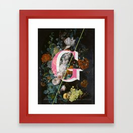 Letter G Framed Art Print