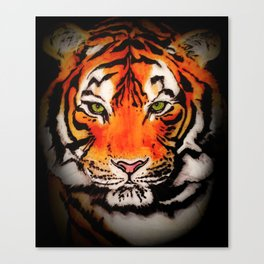 Tiger in the Shadows Canvas Print